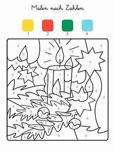 Adventskalender Zahlen Mathe : ausmalbild malen nach zahlen weihnachtskerze ausmalen kostenlos ausdrucken ~ Indierocktalk.com Haus und Dekorationen