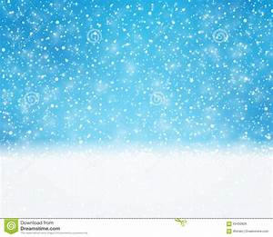 Blue White Holiday, Winter, Christmas Card With Snowfall ...