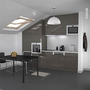 petite cuisine ouverte de couleur taupe design et With salle a manger couleur taupe pour petite cuisine Équipée
