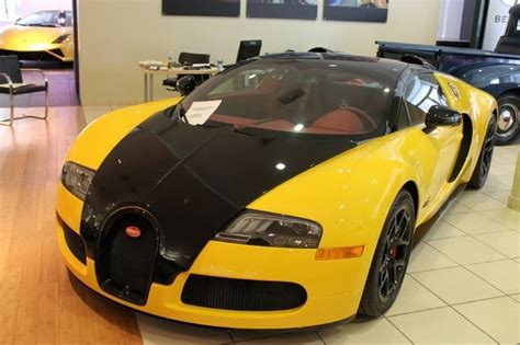 yellow bugatti bumblebee coloured bugatti veyron grand sport for sale in