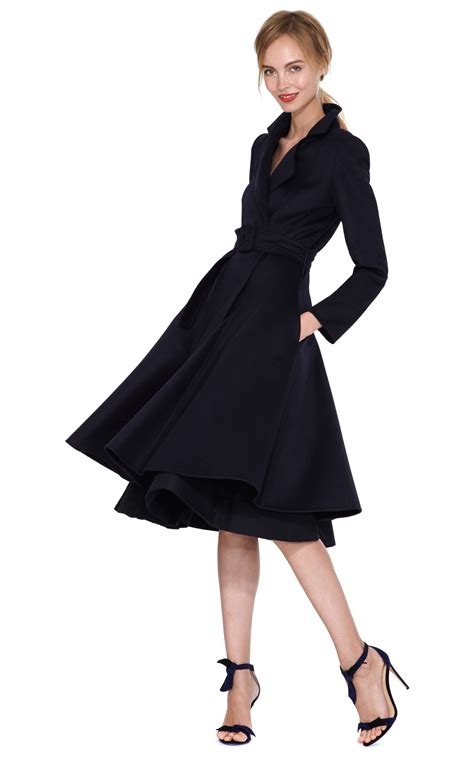 marni overcoat oscar de la renta navy coat in blue lyst