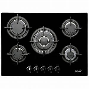 Plaque de cuisson gaz 5 foyers, noir, CATA APELSON L705CI
