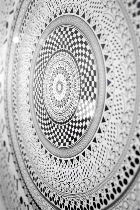 black  white mandala  pantone canvas gallery
