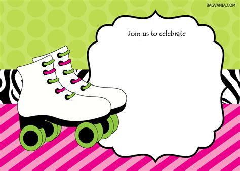 27+ Roller Skating Party Blank Template Background