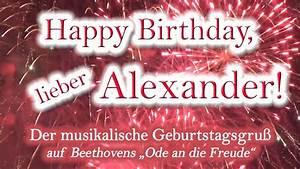 Happy, Birthday, Lieber, Alexander, Alles, Gute, Zum