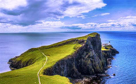 Neist Point Lighthouse Isle Of Skye Scotland By