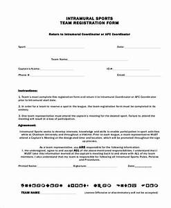 registration form templates With sport registration form template