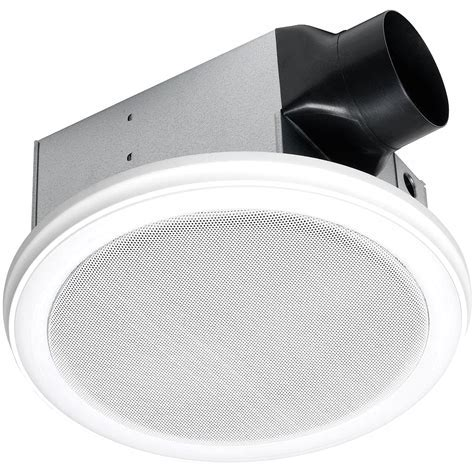 White Exhaust Fan With LED Light Bathroom Home