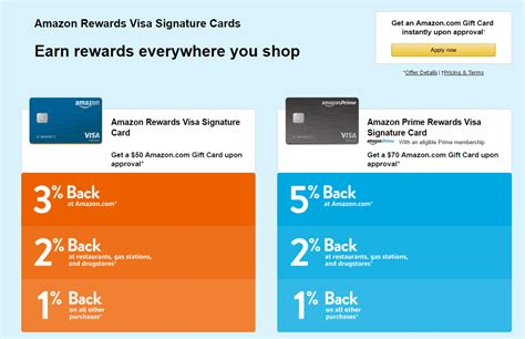 The amazon prime rewards visa signature card, issued through chase, has some enticing the prime rewards card is the better option if you're spending more than $5,950 per year on amazon. Amazon Rewards Visa Credit Card Online Application