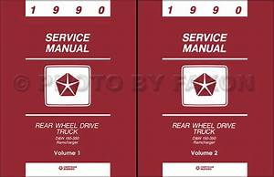 1990 Dodge Pickup Truck Shop Manual D150 D250 D350 W150