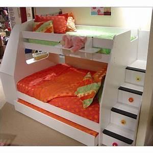 Lit Superposé Escalier : avec un escalier d 39 acc s et des tiroirs de rangement dans ~ Premium-room.com Idées de Décoration