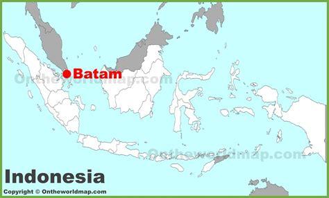batam location   indonesia map