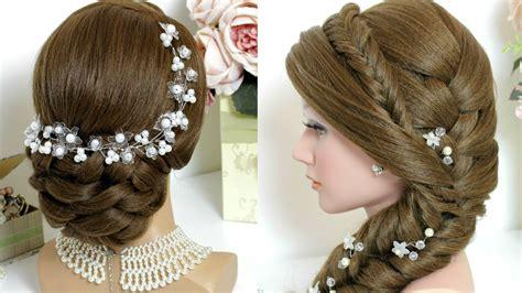 2 Hairstyles For Long Hair Tutorial Bridal Updo Mermaid