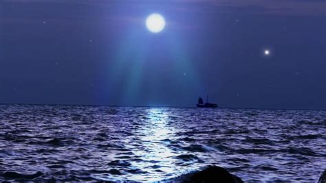 Boat Browser Night Mode by Stock Video Of Ship Sails Under The Moon In 7186738