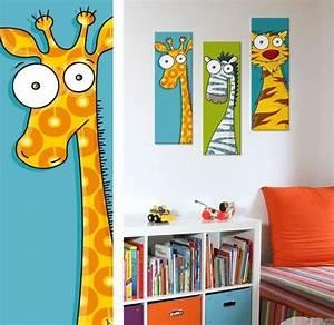 Tableau Deco Chambre : tableau enfant original et rigolo place des bambins le blog ~ Teatrodelosmanantiales.com Idées de Décoration