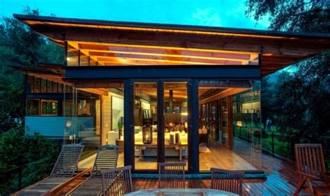 flat roof modern wooden house   mexican forest interior design ideas ofdesign