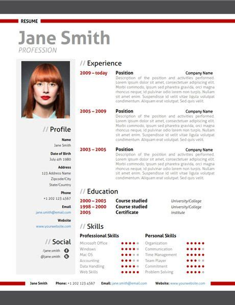 find the modern resume template on www cvfolio