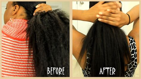 Curly Hair Keratin Treatment And After