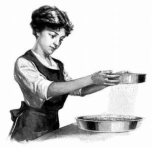 Young Woman Cooking Clip Art | Old Design Shop Blog