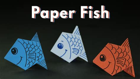 kids craft ideas origami paper fishes  kids simple