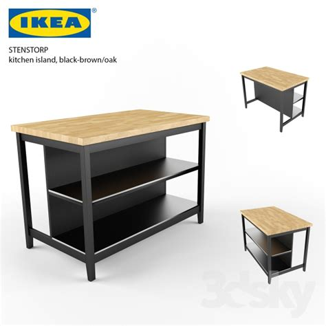 ikea kitchen island bench 3d models table ikea stenstorp kitchen island 4535