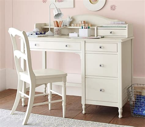 kids desk for girls juliette storage desk hutch pottery barn kids