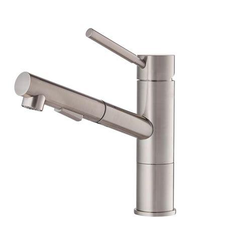 kraus geo axis single handle pull  sprayer kitchen