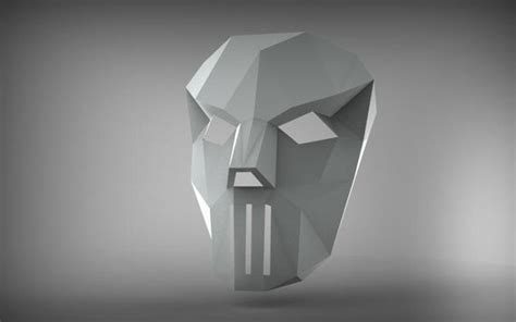 printable paper model  casey jones mask  papercraft model