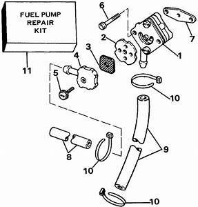 Evinrude Fuel Pump Parts For 1985 9 9hp E10rcom Outboard Motor