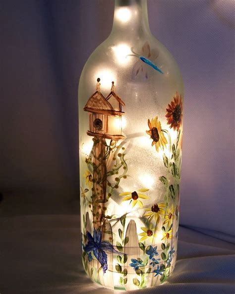 25 best ideas about painted wine bottles on