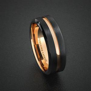 tungsten wedding band mens ring two tone rose gold by With mens 2 tone wedding rings