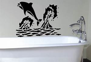 Bathroom decals bathroom clipgoo for Best brand of paint for kitchen cabinets with wall art vinyl stickers