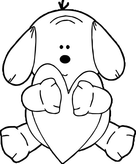 puppy coloring page puppy hugging puppy coloring page