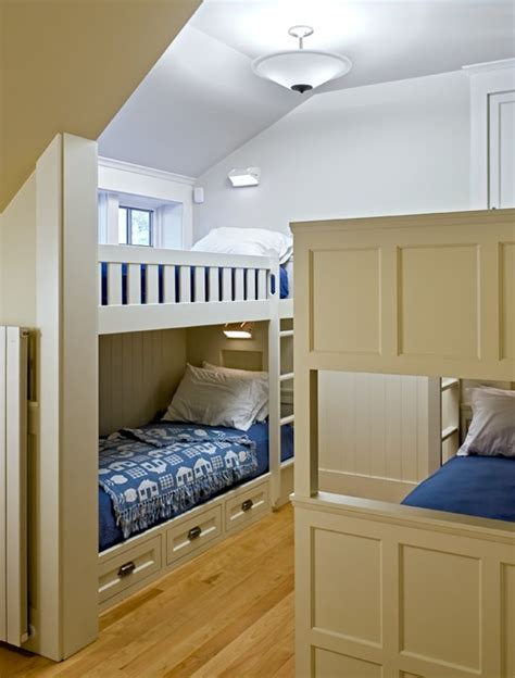 Not so with this wall of bunk beds, which was thoughtfully designed with a small window in each sleeping space. 27 Fantastic Built In Bunk Bed Ideas for Kids Room from a Fairy Tales