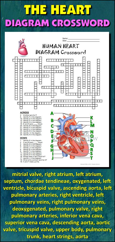heart crossword  diagram editable