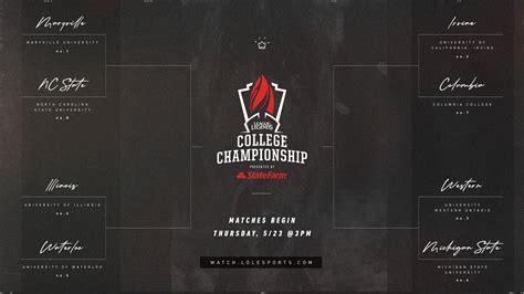 league  legends  college championship