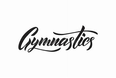 Gymnastics Word Lettering Calligraphy Gymnastik Ginnastica Gymnastique