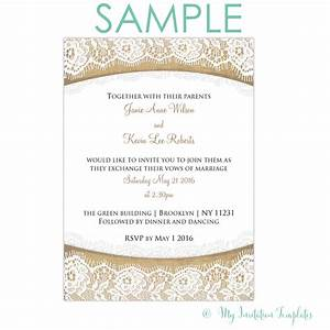 rustic burlap and lace wedding invitation free sample With wedding invitations with jute