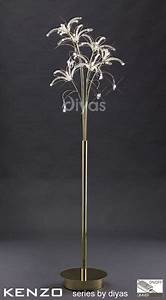 Kenzo floor lamp gold for Gold flower floor lamp