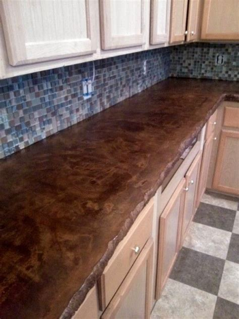furniture outstanding stained concrete countertop design