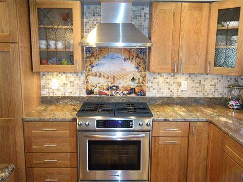 glass backsplash kitchen italian tile murals tuscany backsplash tiles 4563