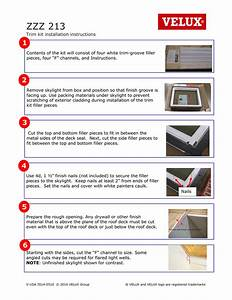 Velux Zzz 213 Skylight Trim Kit Installation Instructions