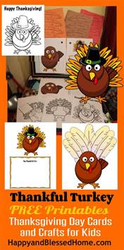 free printable thanksgiving day cards and crafts for