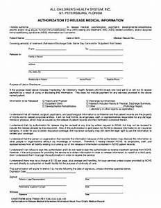 Bill Of Sale Form Florida Medical Release Form For Child ...