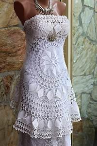 crochet lace wedding dress ooak alternative wedding dress With crochet lace wedding dress