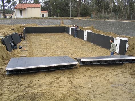 piscine en kit enterr 233 e beton