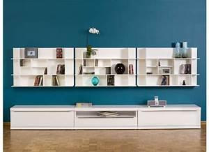 étagère Murale Salon : etag re murale design blanc panorama ~ Farleysfitness.com Idées de Décoration