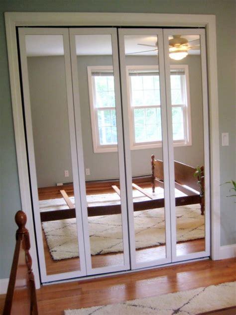 mirror folding closet doors bedroom closet door mirrors stanley mirrored sliding