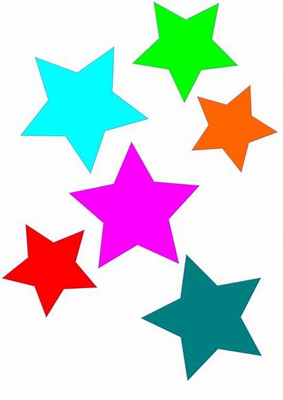 Clipart Colorful Stars Star Colors Clip Pencil