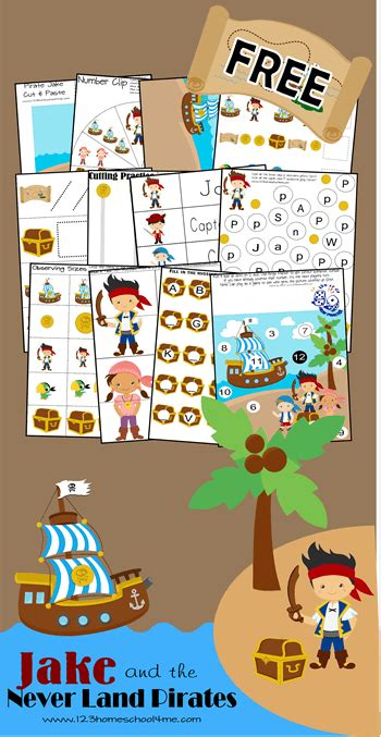 jake   neverland pirates worksheets